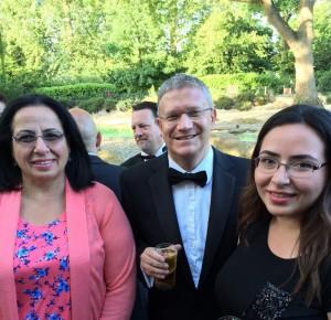 Tuncalı, Romford Bölgesi Muhafazakar Parti Milletvekili Andrew Rosindell'in 25. hizmet yılı onuruna verilen akşam yemeğine katıldı.(11 Temmuz 2015)