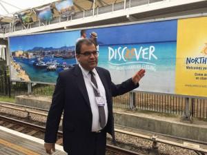 KKTC Turizm Bakanı Dr. Faiz Sucuoğlu Londra'da düzenlenen Dünya Turizm Fuarı'nı ziyaret etti (3 Kasım 2015)
