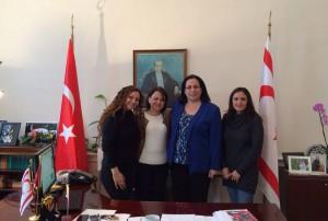 KKTC Hazine ve Muhasebe Dairesi Müdürü Fatma Görener Büyükelçi Oya Tuncalı'yı ziyaret etti