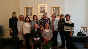 "Ambassador Tuncalı accepts a visit from the new Board of Directors of the ""Limasollular Derneği"""