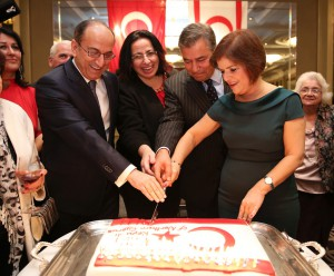 TRNC Minister of Foreign Affairs H. E. Emine Çolak honoured the Republic Day reception