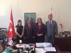 Cyprus Turkish Chamber of Industry Chair Ali Çıralı visited Ambassador Oya Tuncalı (5 October 2015)